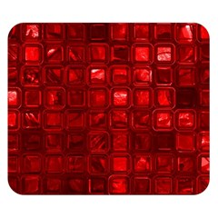 Glossy Tiles,red Double Sided Flano Blanket (small)  by MoreColorsinLife
