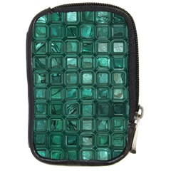 Glossy Tiles,teal Compact Camera Cases by MoreColorsinLife