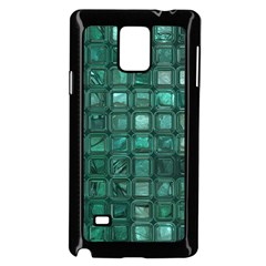 Glossy Tiles,teal Samsung Galaxy Note 4 Case (black)