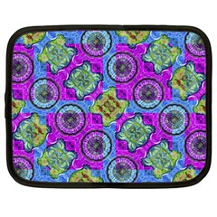 Collage Ornate Geometric Pattern Netbook Case (xxl)  by dflcprints