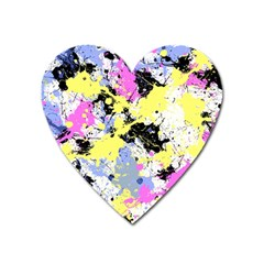 Abstract Heart Magnet by Uniqued