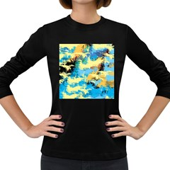 Abstract #4 Women s Long Sleeve Dark T Shirts by Uniqued