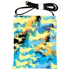 Abstract #4 Shoulder Sling Bags by Uniqued