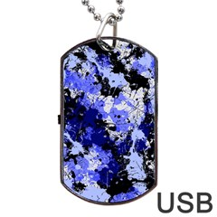 Abstract #7 Dog Tag Usb Flash (two Sides)  by Uniqued