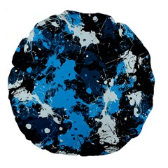 Abstract #8 Large 18  Premium Flano Round Cushions