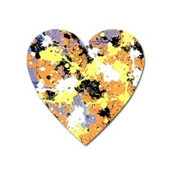 Abstract #9 Heart Magnet by Uniqued