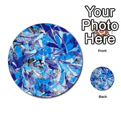 Abstract Floral Multi Purpose Cards (round)