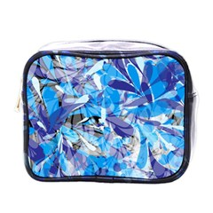 Abstract Floral Mini Toiletries Bags by Uniqued