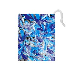 Abstract Floral Drawstring Pouches (medium)  by Uniqued