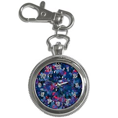 Abstract Floral #3 Key Chain Watches by Uniqued