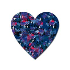 Abstract Floral #3 Heart Magnet by Uniqued