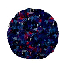 Abstract Floral #3 Standard 15  Premium Flano Round Cushions by Uniqued