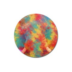 Abstract Elephant Magnet 3  (round) by Uniqued