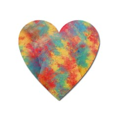 Abstract Elephant Heart Magnet by Uniqued