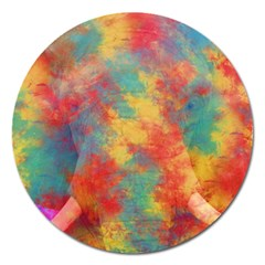 Abstract Elephant Magnet 5  (round) by Uniqued