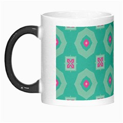Pink Flowers And Other Shapes Pattern  Morph Mug by LalyLauraFLM