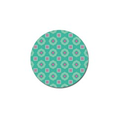 Pink Flowers And Other Shapes Pattern  			golf Ball Marker (4 Pack) by LalyLauraFLM