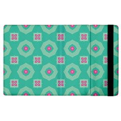Pink Flowers And Other Shapes Pattern  			apple Ipad 3/4 Flip Case by LalyLauraFLM