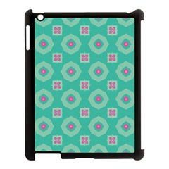 Pink Flowers And Other Shapes Pattern  			apple Ipad 3/4 Case (black) by LalyLauraFLM
