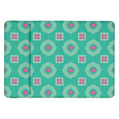 Pink Flowers And Other Shapes Pattern  			samsung Galaxy Tab 8 9  P7300 Flip Case by LalyLauraFLM