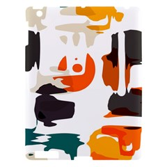 Shapes In Retro Colors On A White Background 			apple Ipad 3/4 Hardshell Case