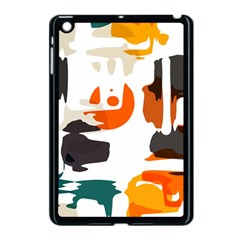 Shapes In Retro Colors On A White Background 			apple Ipad Mini Case (black) by LalyLauraFLM