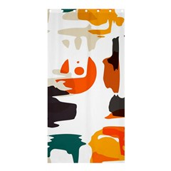 Shapes In Retro Colors On A White Background 	shower Curtain 36  X 72  by LalyLauraFLM