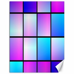 Gradient Squares Pattern  			canvas 18  X 24  by LalyLauraFLM