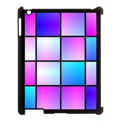 Gradient Squares Pattern  			apple Ipad 3/4 Case (black) by LalyLauraFLM