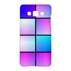 Gradient Squares Pattern  			samsung Galaxy A5 Hardshell Case by LalyLauraFLM