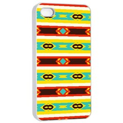 Rhombus Stripes And Other Shapes 			apple Iphone 4/4s Seamless Case (white) by LalyLauraFLM