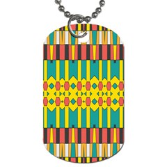 Shapes And Stripes  			dog Tag (one Side) by LalyLauraFLM