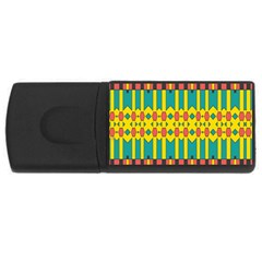 Shapes And Stripes  			usb Flash Drive Rectangular (4 Gb) by LalyLauraFLM