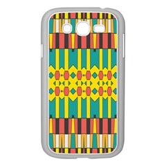 Shapes And Stripes  			samsung Galaxy Grand Duos I9082 Case (white) by LalyLauraFLM