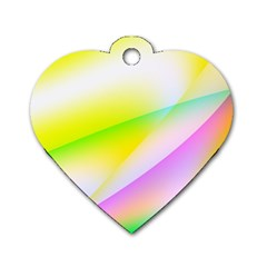 New 4 Dog Tag Heart (one Side) by timelessartoncanvas