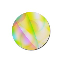 New 5 Rubber Round Coaster (4 Pack)  by timelessartoncanvas