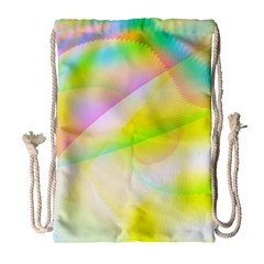 New 6 Drawstring Bag (large) by timelessartoncanvas