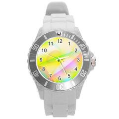 New 7 Round Plastic Sport Watch (l) by timelessartoncanvas