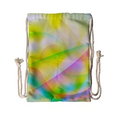 New 7 Drawstring Bag (small) by timelessartoncanvas