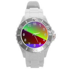 New 8 Round Plastic Sport Watch (l) by timelessartoncanvas