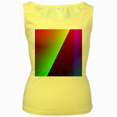 New 9 Women s Yellow Tank Top by timelessartoncanvas