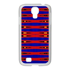 Bright Blue Red Yellow Mod Abstract Samsung Galaxy S4 I9500/ I9505 Case (white)