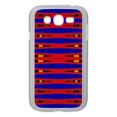 Bright Blue Red Yellow Mod Abstract Samsung Galaxy Grand Duos I9082 Case (white)