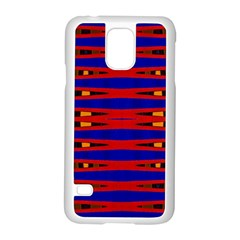 Bright Blue Red Yellow Mod Abstract Samsung Galaxy S5 Case (white)