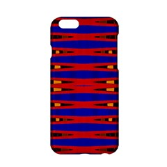 Bright Blue Red Yellow Mod Abstract Apple Iphone 6/6s Hardshell Case by BrightVibesDesign