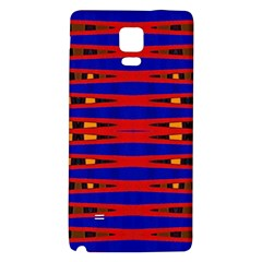 Bright Blue Red Yellow Mod Abstract Galaxy Note 4 Back Case
