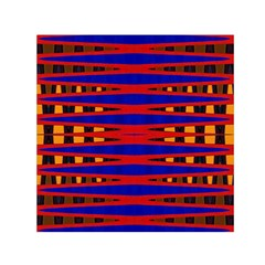 Bright Blue Red Yellow Mod Abstract Small Satin Scarf (square)