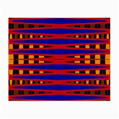 Bright Blue Red Yellow Mod Abstract Small Glasses Cloth