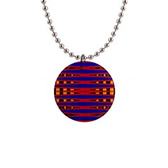 Bright Blue Red Yellow Mod Abstract Button Necklaces