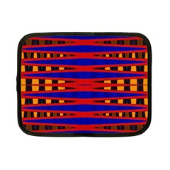Bright Blue Red Yellow Mod Abstract Netbook Case (small)